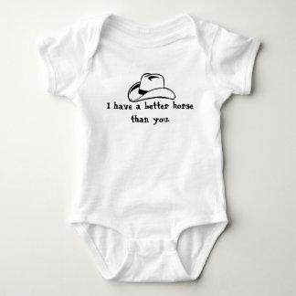 Body Para Bebê Melhor cavalo do que você…