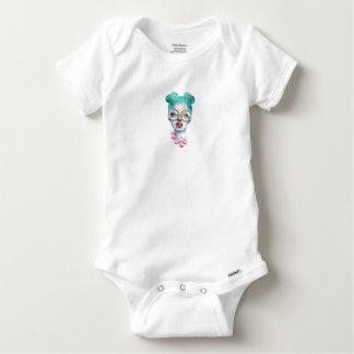 Body Para Bebê Menina com arte Funky do Watercolour dos vidros