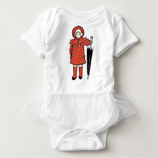 Body Para Bebê Menina com guarda-chuva