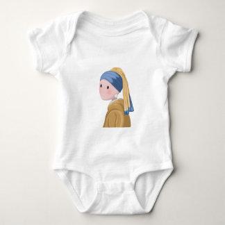 Body Para Bebê Menina com um brinco da pérola