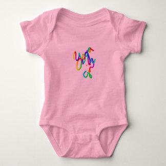 Body Para Bebê Menina cor-de-rosa da ioga do ~~ do terno do corpo