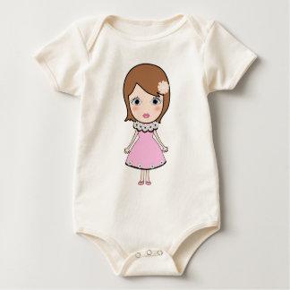 Body Para Bebê Menina da boneca do cabelo curto