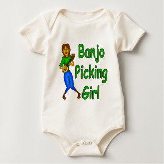 Body Para Bebê Menina da colheita do banjo