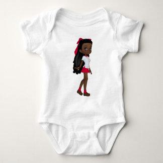 Body Para Bebê Menina da escola do afro-americano