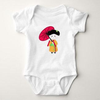 Body Para Bebê Menina de gueixa japonesa