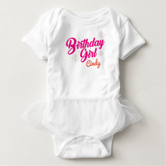 Body Para Bebê Menina do aniversário