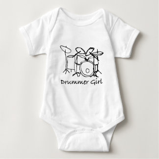 Body Para Bebê Menina do baterista