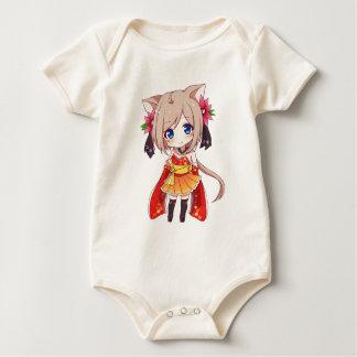 Body Para Bebê Menina do Fox de Chibi