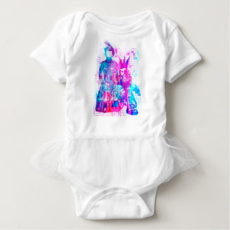 Body Para Bebê Menina do gótico do algodão doce e gajo do punk