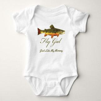 Body Para Bebê Menina engraçada da pesca com mosca da truta