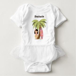Body Para Bebê Menina havaiana do surfista
