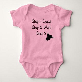 Body Para Bebê Menina infantil (rastejamento cor-de-rosa,