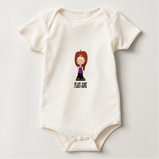 Body Para Bebê menina lisa de jane