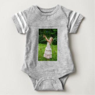 Body Para Bebê Menina que trava um Butterly