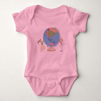 Body Para Bebê Meninas bonitos com o Bodysuit do bebê do globo do