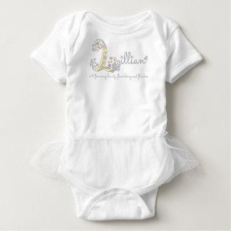 Body Para Bebê Meninas L romper conhecido de Lillian do bebê do