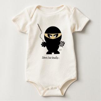 Body Para Bebê menino do ninja, silencioso, mas inoperante…,