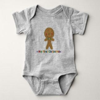 Body Para Bebê Menino do pão-de-espécie do Natal dos bebês