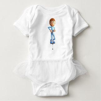 Body Para Bebê Menino dos desenhos animados em uma vara de Pogo