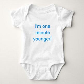 Body Para Bebê Menino gêmeo eu sou um mais novo minuto!