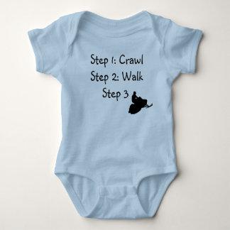 Body Para Bebê Menino infantil (rastejamento azul, caminhada,