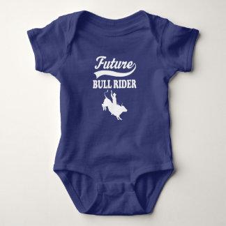 Body Para Bebê Meninos futuros do rodeio do cavaleiro de Bull