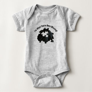 Body Para Bebê Mensagem adorável com a foto de falta da parte do