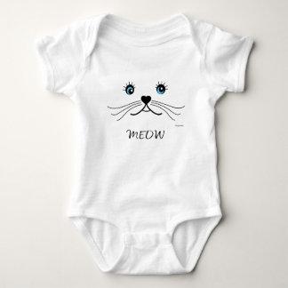 Body Para Bebê MEOW-Gato-Camisa