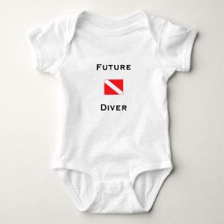 Body Para Bebê Mergulhador futuro