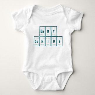 Body Para Bebê Mesa de elementos periódica:  Gênio do bebê