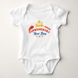 Body Para Bebê Mesmo os super-herói precisam o sono