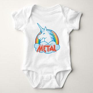 Body Para Bebê metal-unicórnio