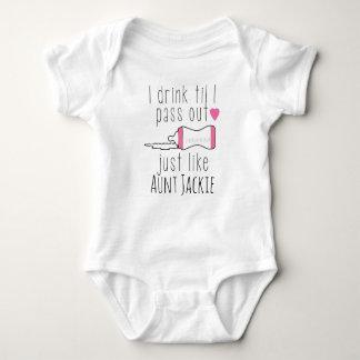 Body Para Bebê Meu auntie favorito, bebida até que eu passar para