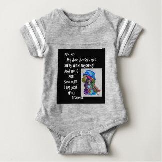 Body Para Bebê Meu cão não é estragado