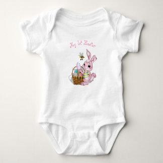 Body Para Bebê Meu coelho cor-de-rosa da ?a páscoa