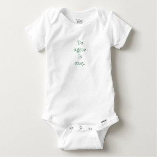 Body Para Bebê Meu concorde o Bodysuit do bebê das citações