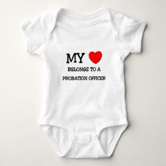 Body Para Bebê Meu coração pertence a um AGENTE DE SAÍDA PRECÁRIA