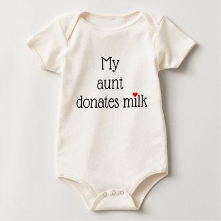 Body Para Bebê Meu __doa o leite com coração vermelho pequeno