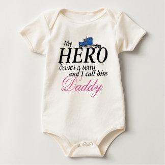 Body Para Bebê Meu herói do pai - camionista