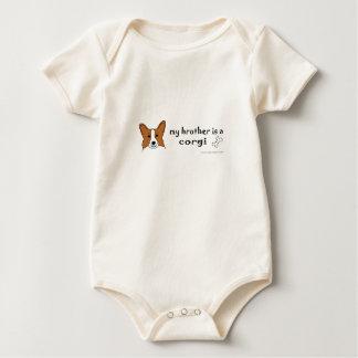 Body Para Bebê meu irmão é um corgi mais raças