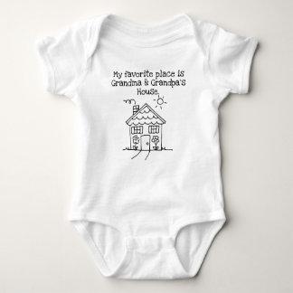 Body Para Bebê meu lugar favorito é casa da avó e do vovô