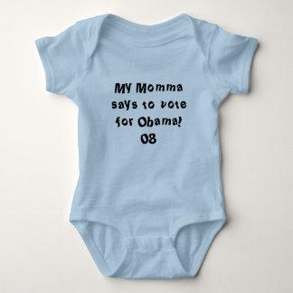 Body Para Bebê Meu Momma diz votar para Obama! 08