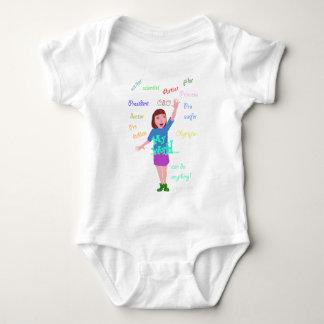 Body Para Bebê Meu mundo eu posso fazer qualquer coisa
