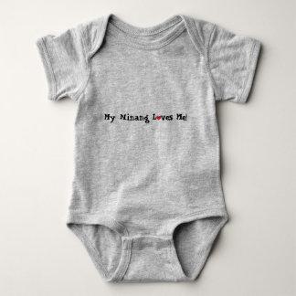 Body Para Bebê Meu Ninang ama-me com um coração!