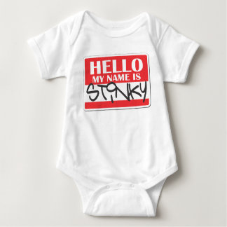 Body Para Bebê Meu nome é fedido