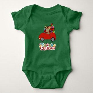 Body Para Bebê Meu ø Natal que conduz a rena