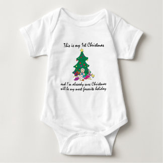 Body Para Bebê Meu ø t-shirt do Natal