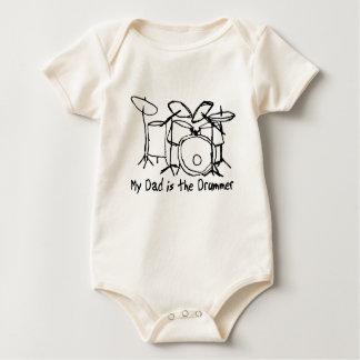 Body Para Bebê Meu pai é o baterista