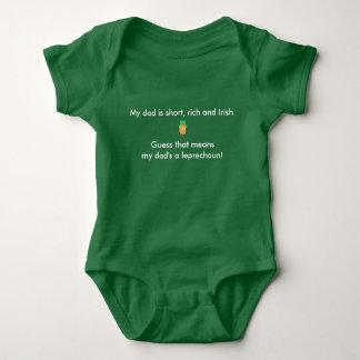 Body Para Bebê Meu pai é um leprechaun