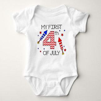 Body Para Bebê Meu primeiro 4o do terno infantil do corpo de